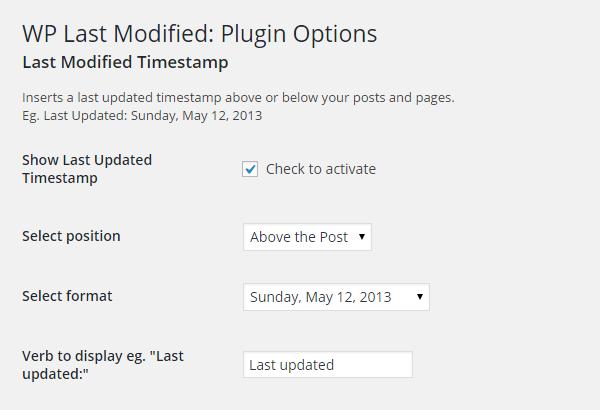 Afficher la date de mise à jour d'un article WordPress
