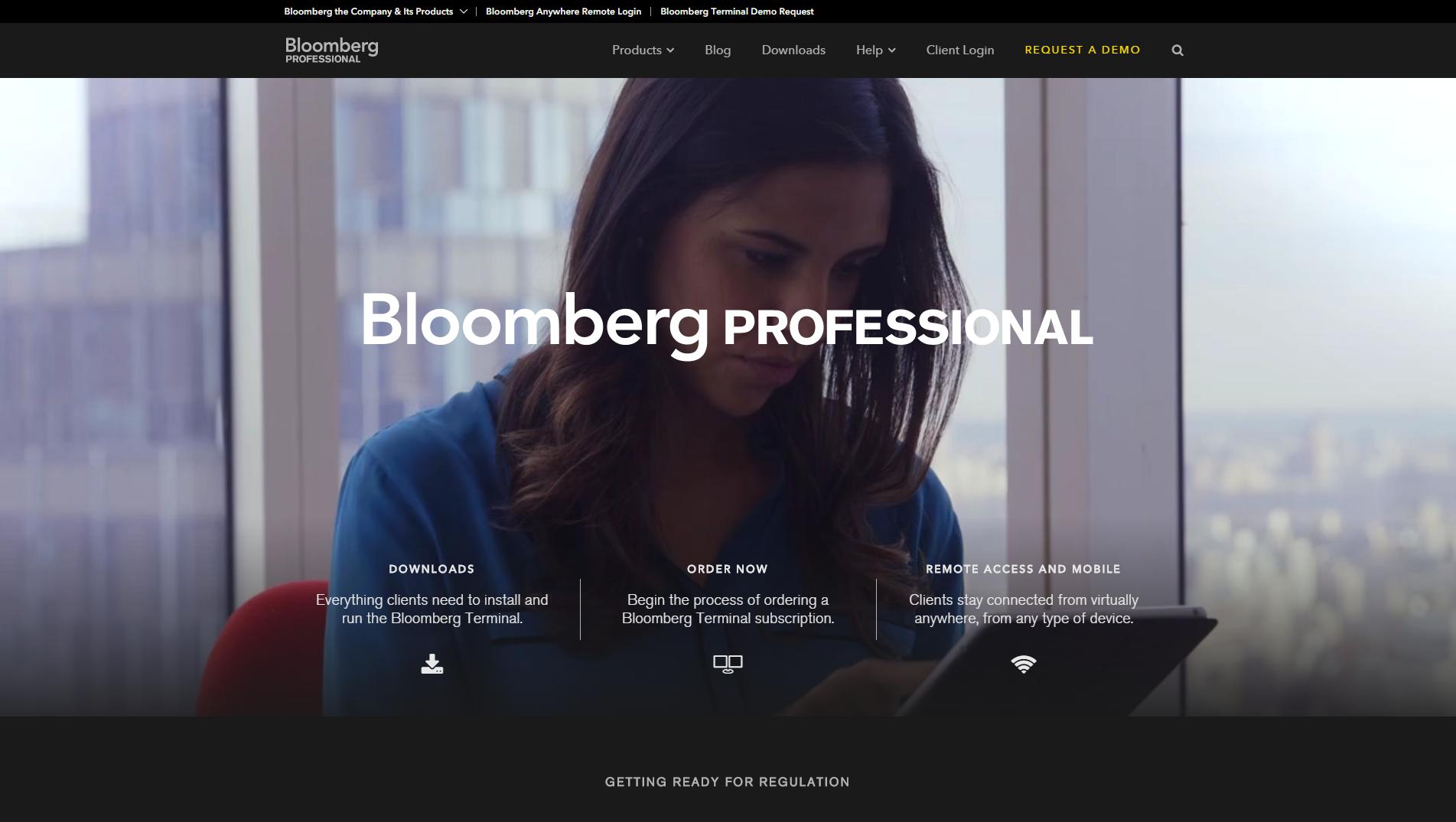 Site WordPress de Bloomberg