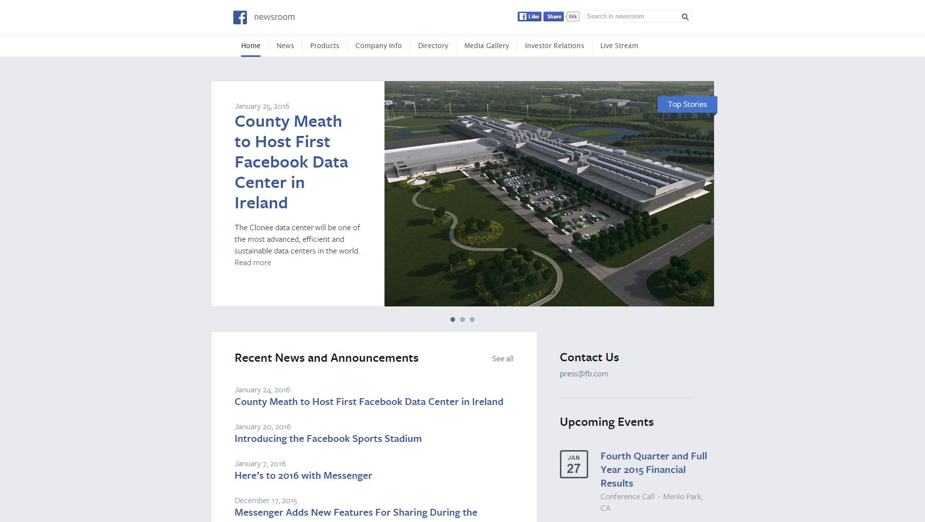 Site WordPress Facebook