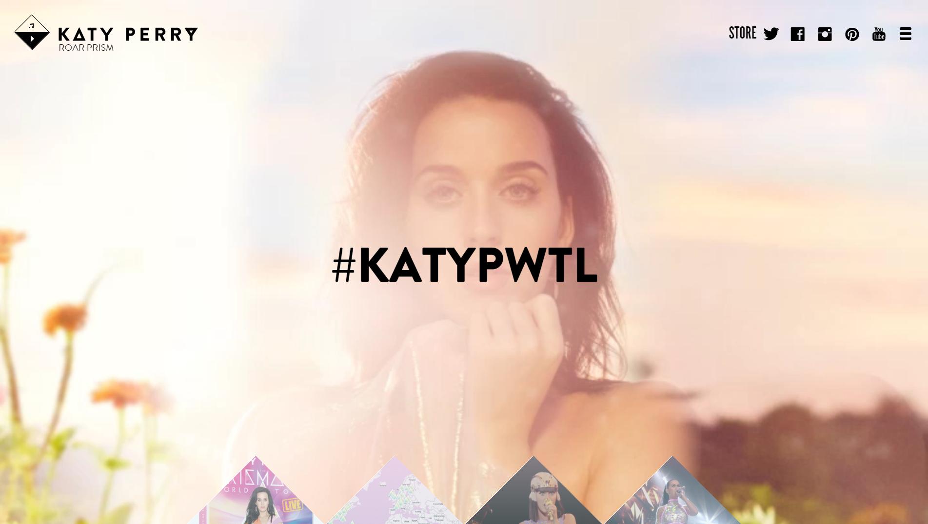 Site WordPress Katy Perry