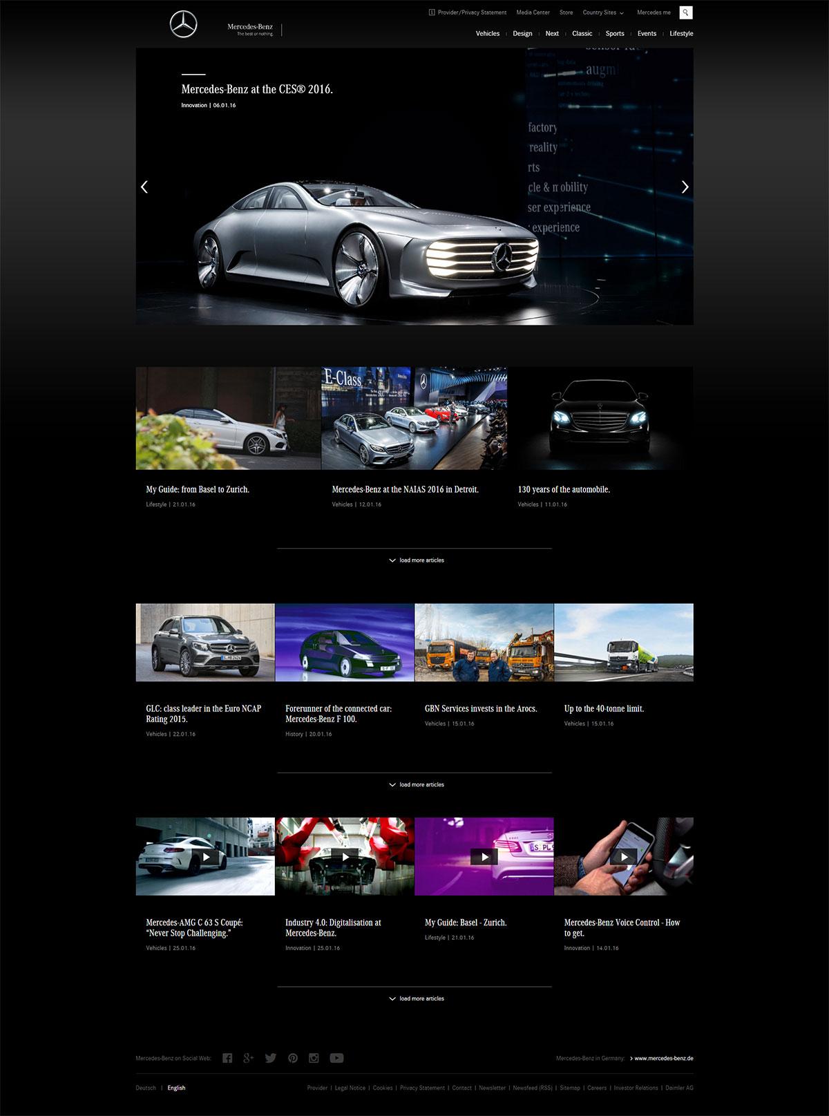 Site WordPress Mercedes