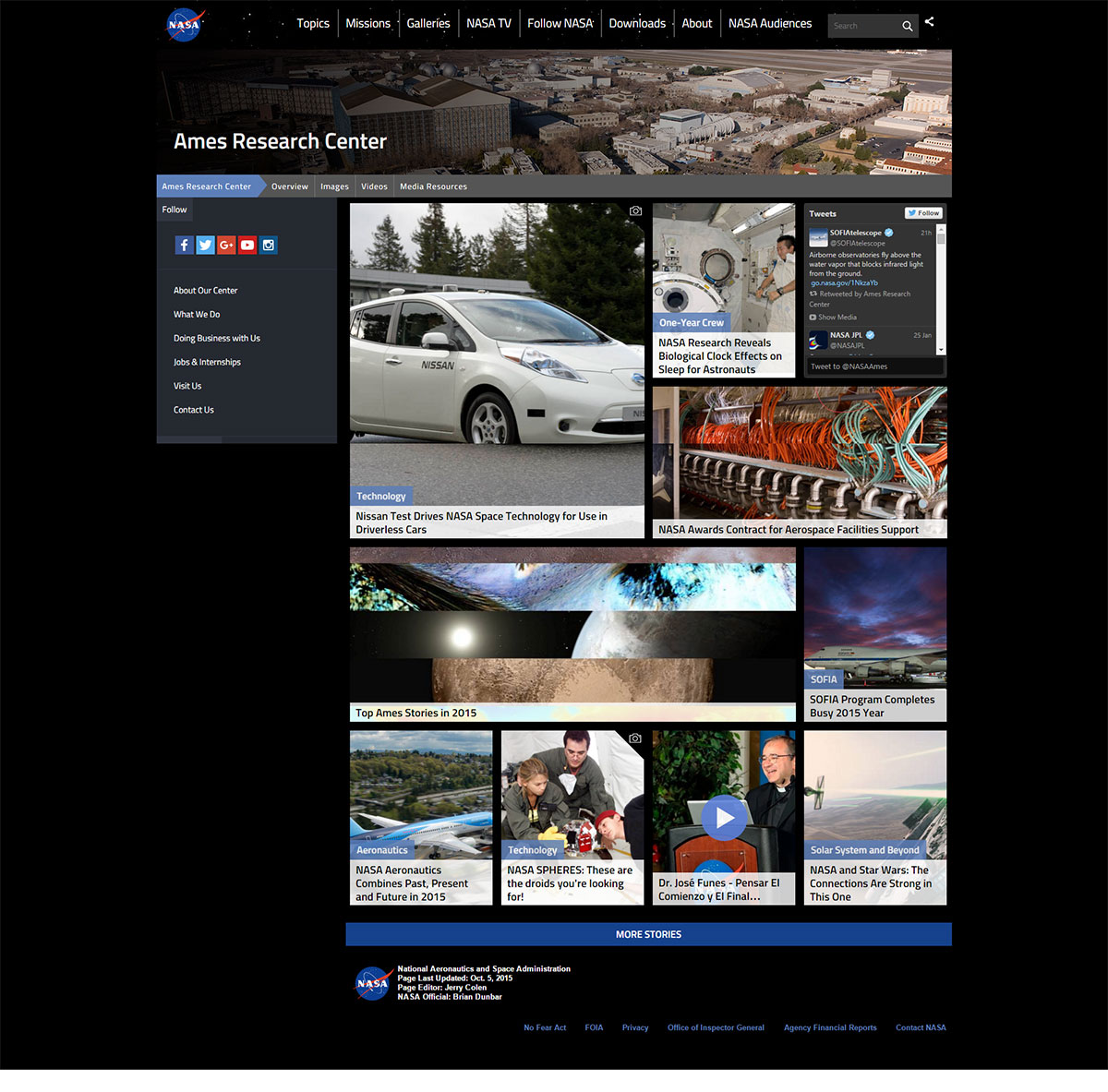 Site WordPress NASA