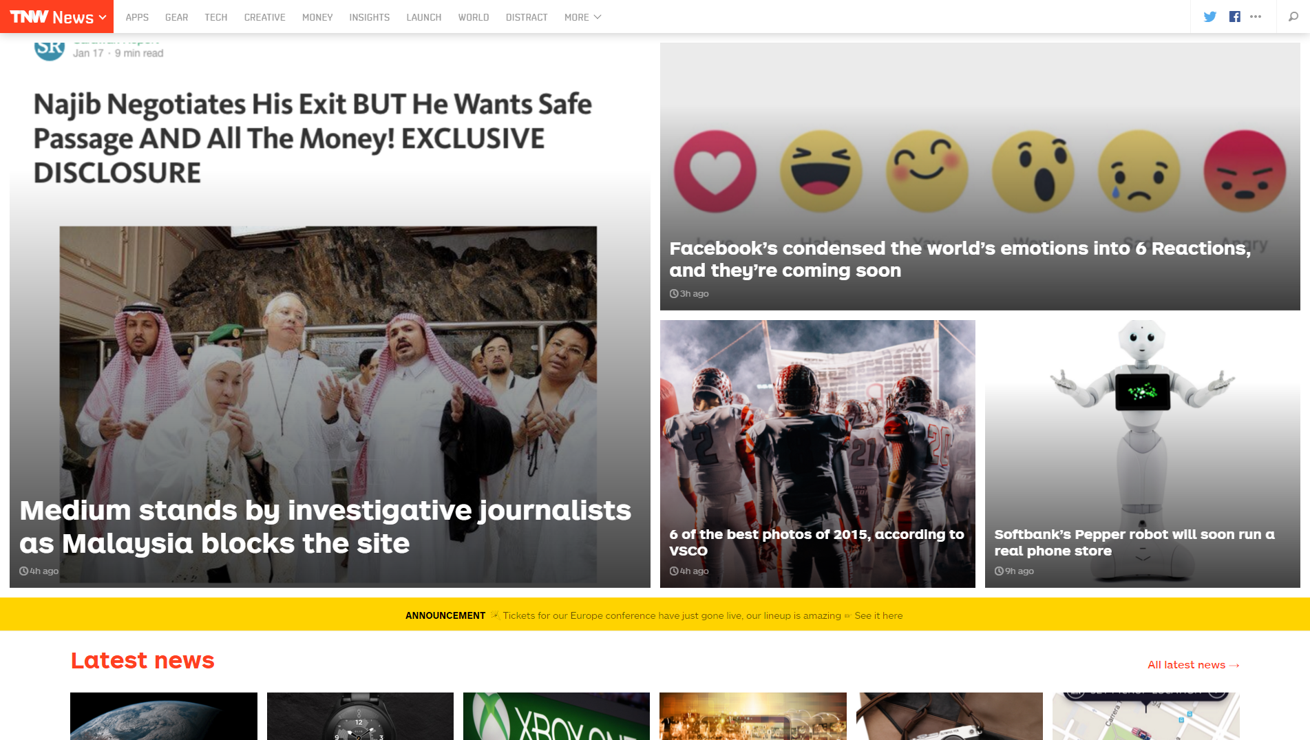 Site WordPress The Next Web