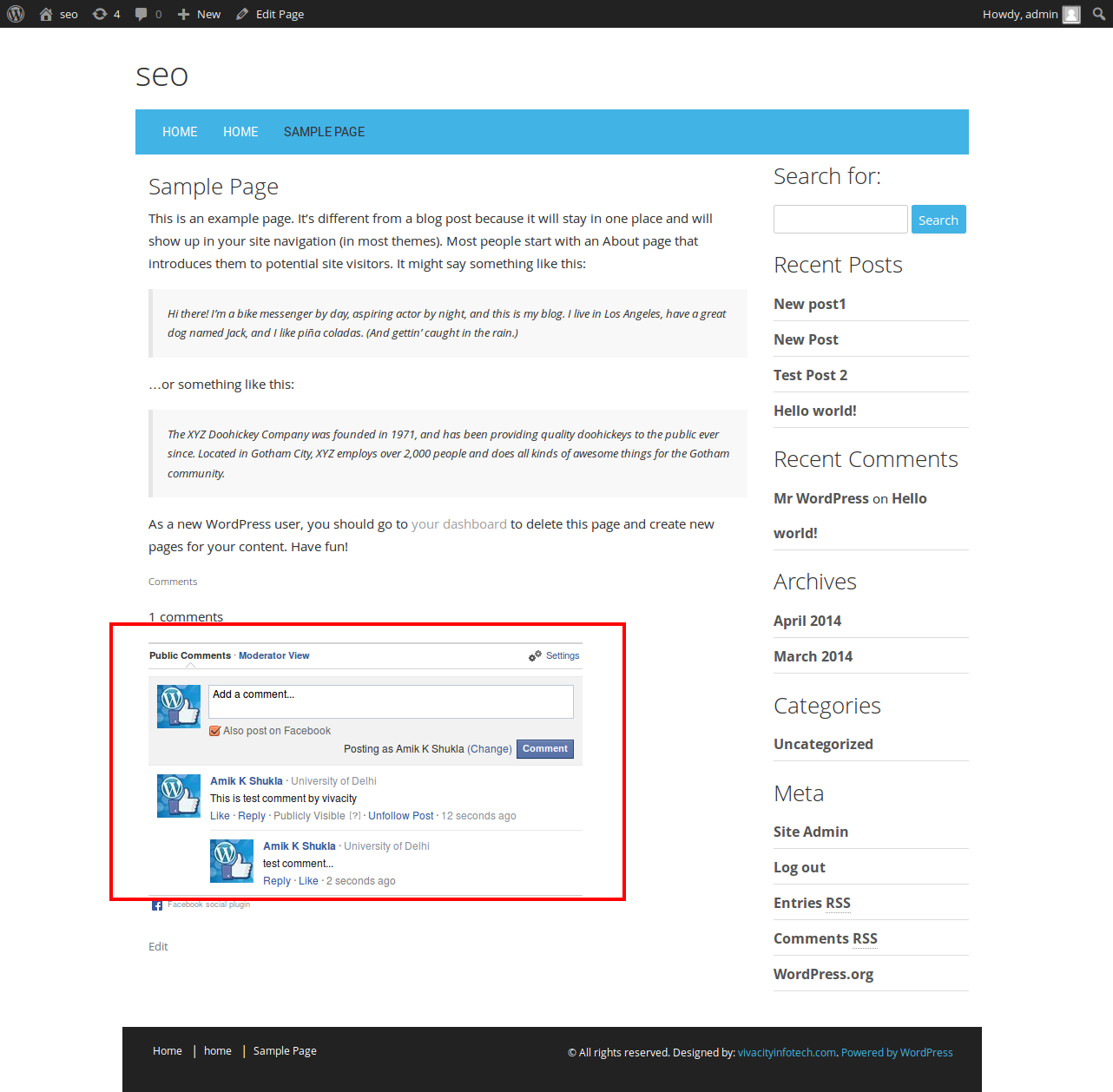 Plugin commentaire WordPress Facebook Comments