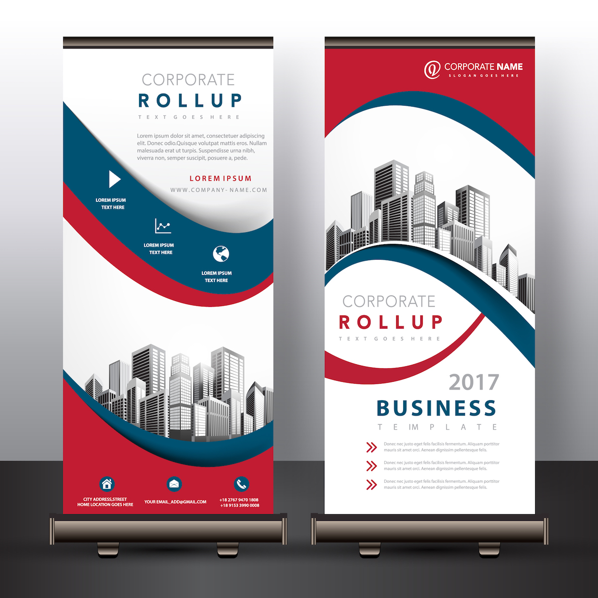 Roll-up support de PLV