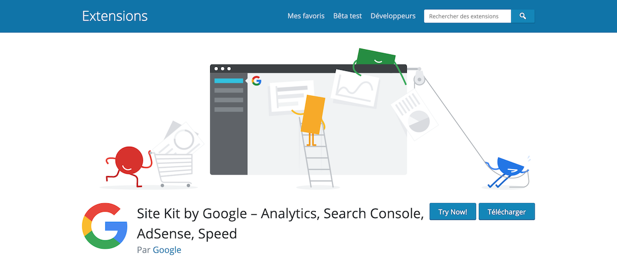 Site Kit by Google extension WordPress