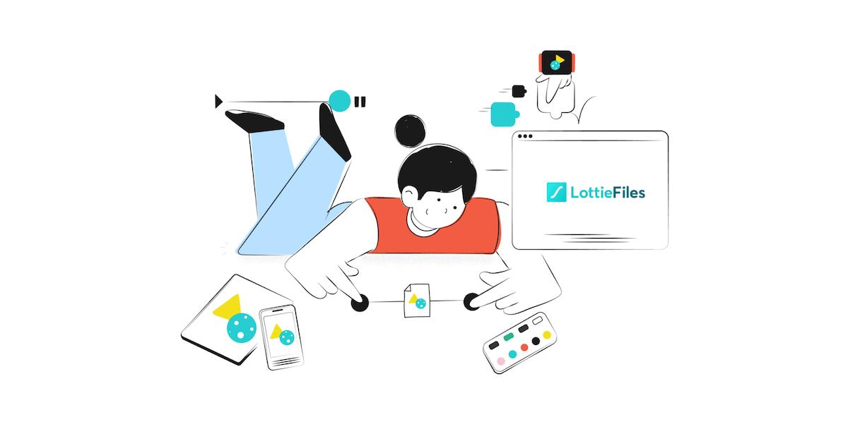 Lottie files Banner