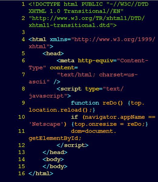 Image développeur code HTML