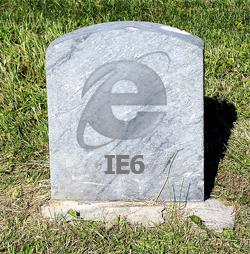 Bientôt la mort d'internet explorer 6